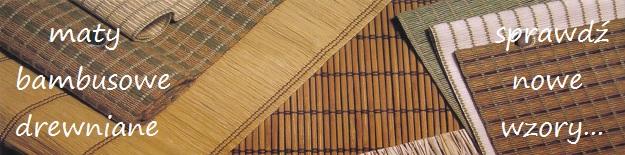 baner 3 maty bambusowe, maty drewniane   katowice, sosnowiec, będzin