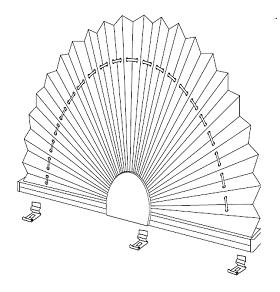 XII Plisy, Żaluzje plisowane