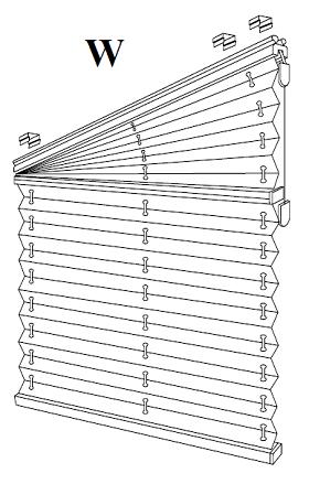 XIII Plisy, Żaluzje plisowane