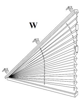 XVI Plisy, Żaluzje plisowane